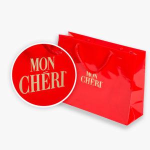 torba usługowa Mon Cheri folia błysk