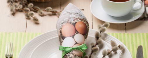 Serwetka Eco Eggs in a Wicker Basket SLWL 0065 01
